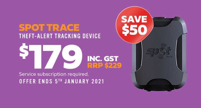 spot trace. theft-alert tracking device. $179 inc. gst. rrp $229. save $50