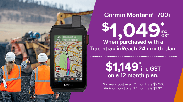 garmin montana 700i. save when purchased with a tracertrak plan.